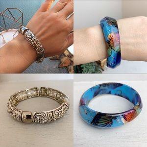 Boho Ornate And Butterfly Bracelet Bundle
